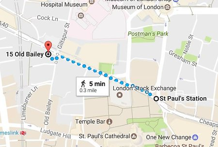 How To Get Here. St Pauls to Old Bailey Smaller for Web